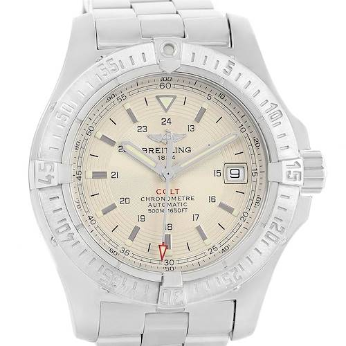 Photo of Breitling Colt Silver Dial Steel Mens Watch A17380 Box Papers
