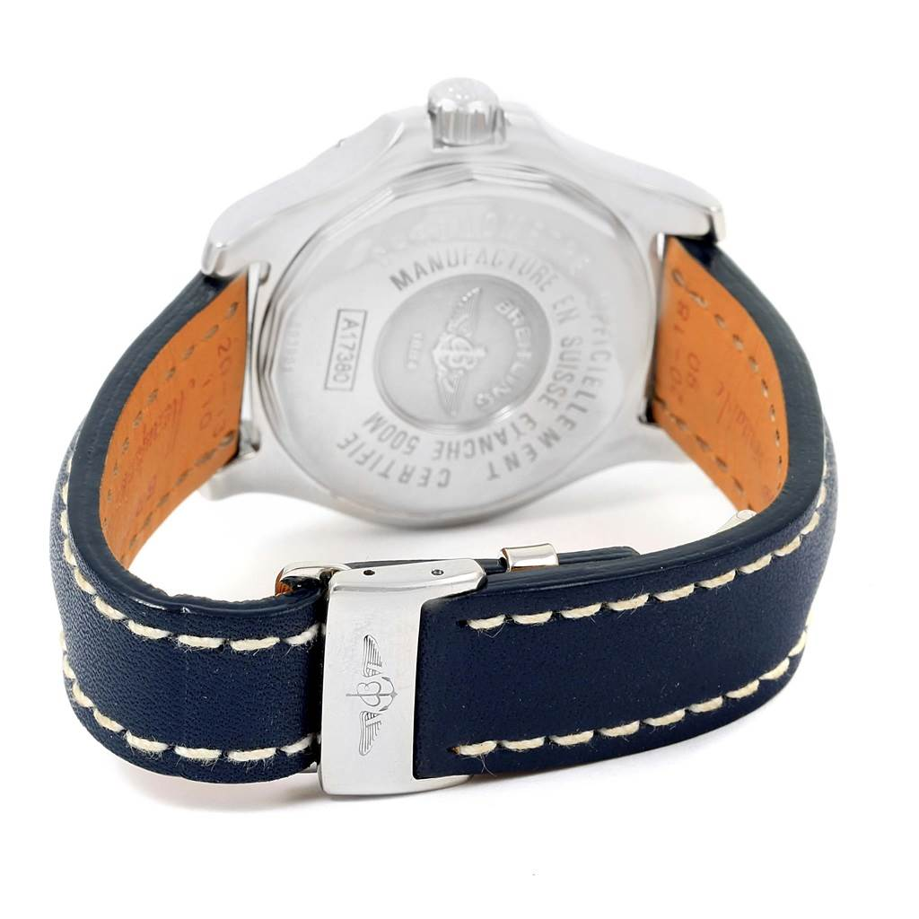15189 Breitling Colt Automatic Stainless Steel Blue Dial Mens Watch A17380 SwissWatchExpo