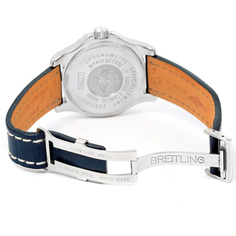 Breitling Colt Automatic Stainless Steel Blue Dial Mens Watch A17380 SwissWatchExpo