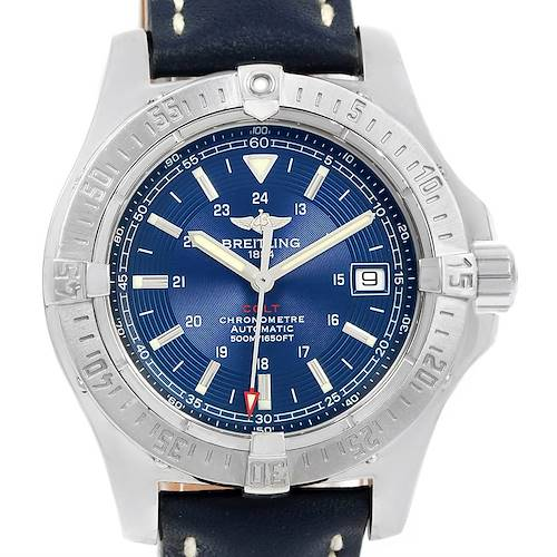 Photo of Breitling Colt Automatic Stainless Steel Blue Dial Mens Watch A17380