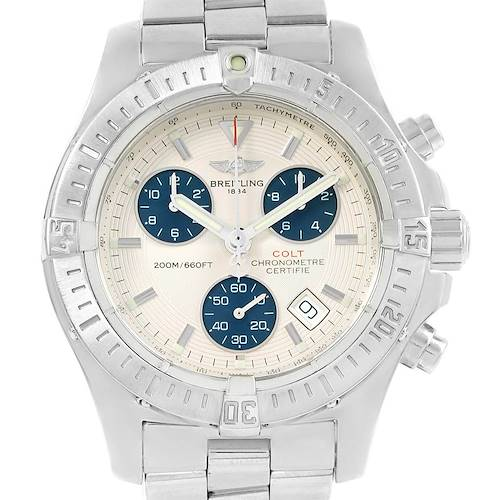 Photo of Breitling Colt Chronograph Blue Subdials Steel Mens Watch A73380