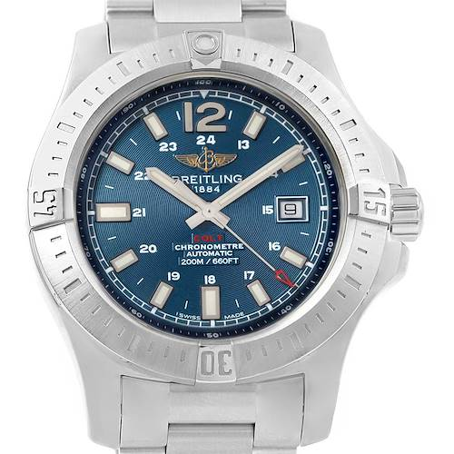 Photo of Breitling Colt Blue Dial Automatic Stainless Steel Mens Watch A17388