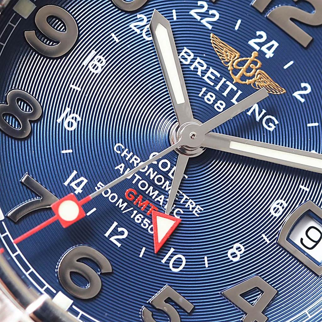 Breitling Colt GMT Automatic Stainless Steel Watch A32350 SwissWatchExpo
