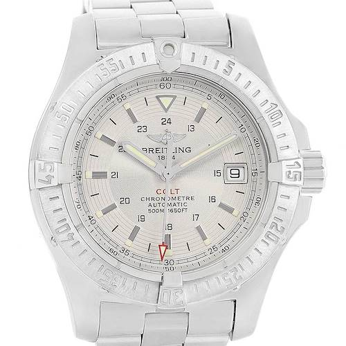 Photo of Breitling Colt Silver Dial Stainless Steel Mens Watch A17380 Box Papers