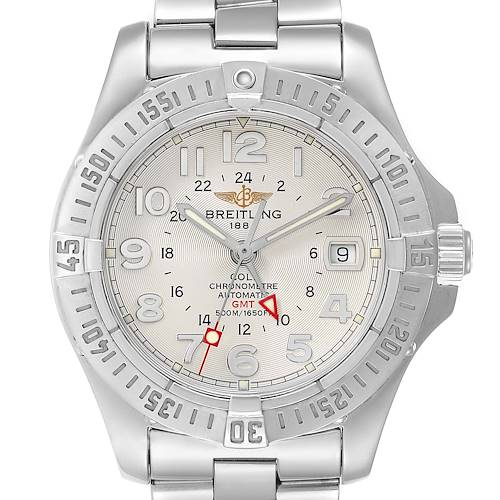 Photo of Breitling Colt GMT Automatic Silver Dial Steel Mens Watch A32350