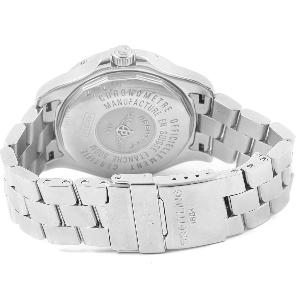 16370 Breitling Colt GMT Automatic Silver Dial Steel Mens Watch A32350 SwissWatchExpo