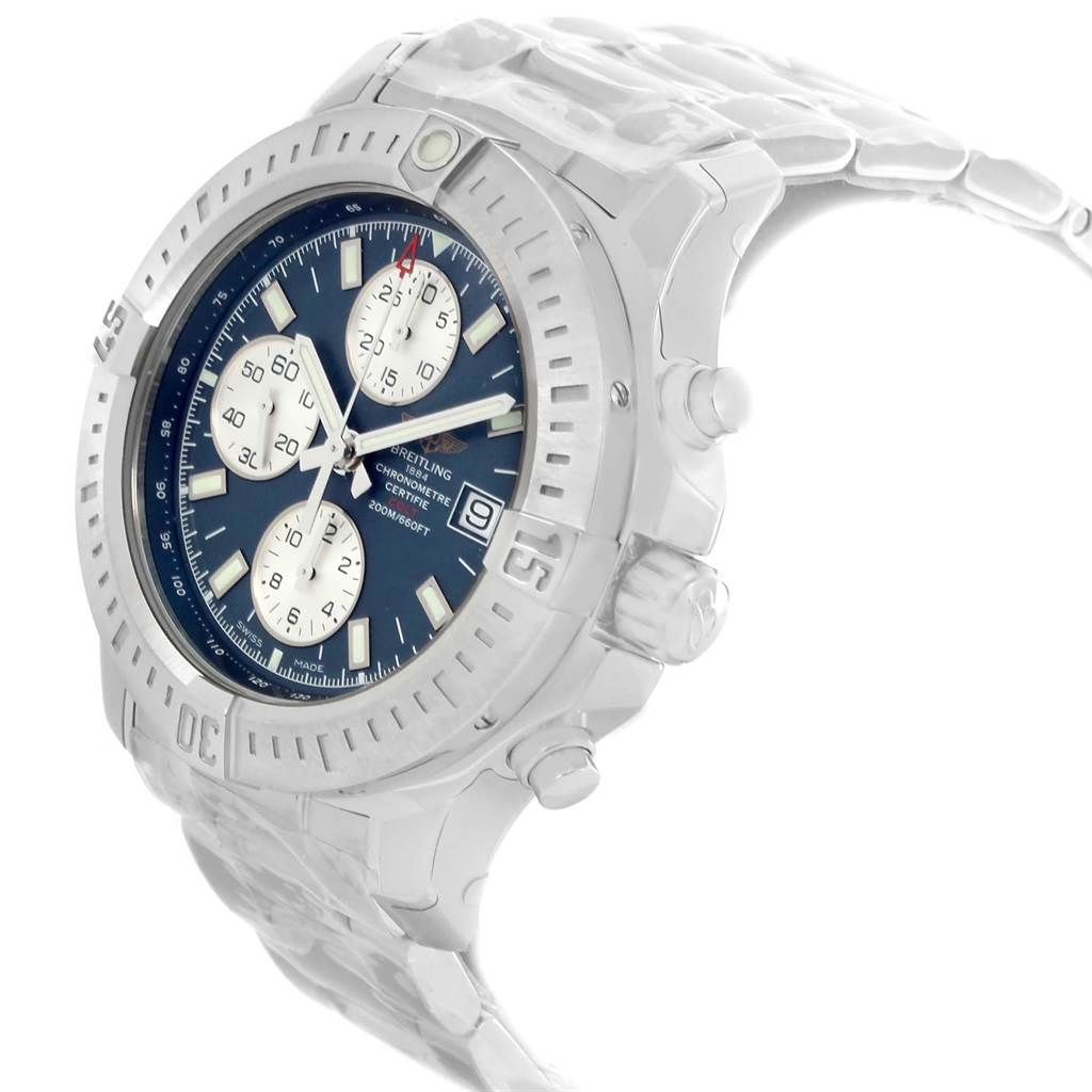 18576 Breitling Colt Blue Dial Stainless Steel Mens Watch A13388 Unworn SwissWatchExpo