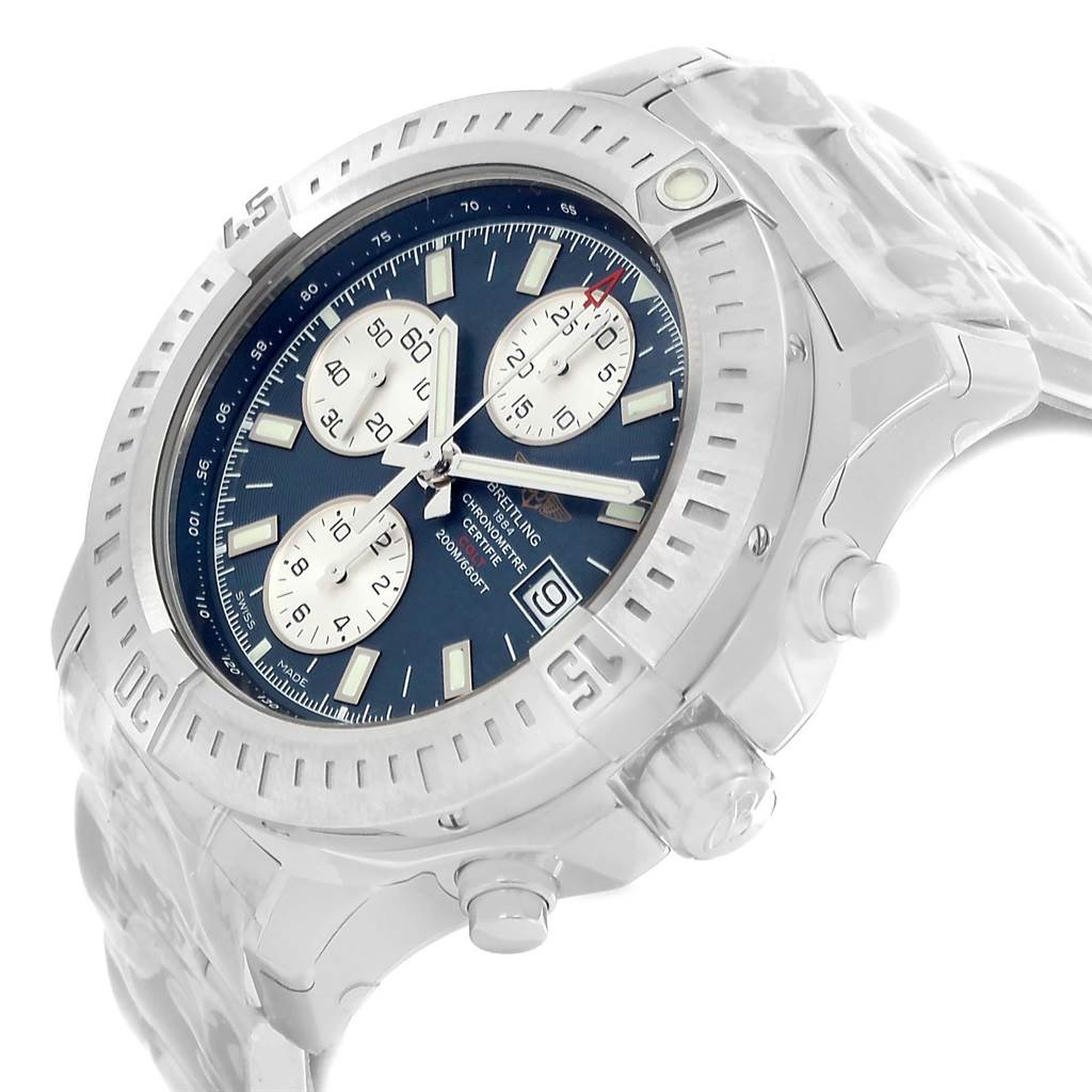 Breitling Colt Blue Dial Stainless Steel Mens Watch A13388 Unworn SwissWatchExpo