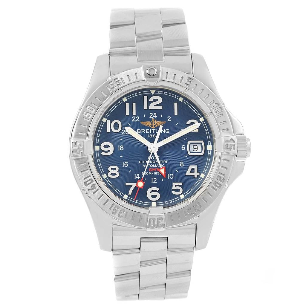 19218 Breitling Colt GMT Automatic Blue Dial Steel Mens Watch A32350 SwissWatchExpo