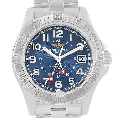 Photo of Breitling Colt GMT Automatic Blue Dial Steel Mens Watch A32350