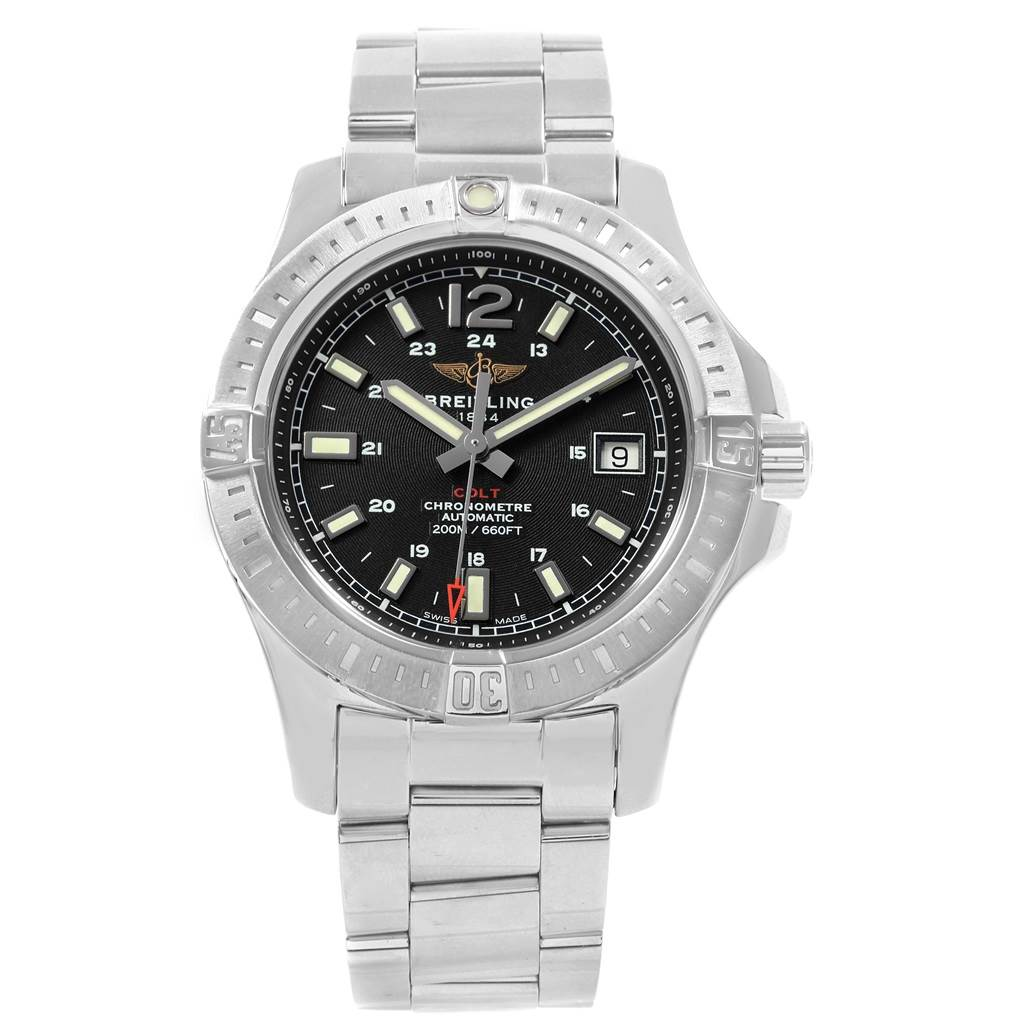 19306 Breitling Colt Black Dial Automatic Steel Mens Watch A17313 SwissWatchExpo