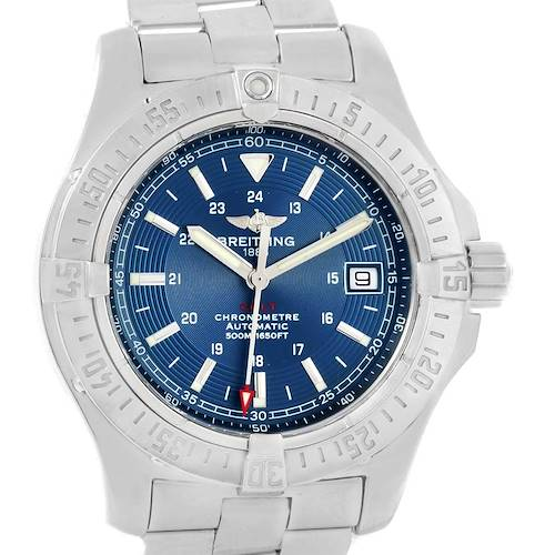 Photo of Breitling Colt 41mm Blue Dial Steel Mens Watch A17380 Box Papers