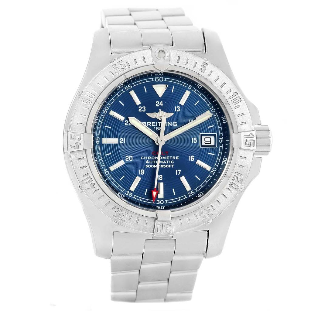 19501 Breitling Colt Blue Dial Automatic Steel Mens Watch A17380 SwissWatchExpo