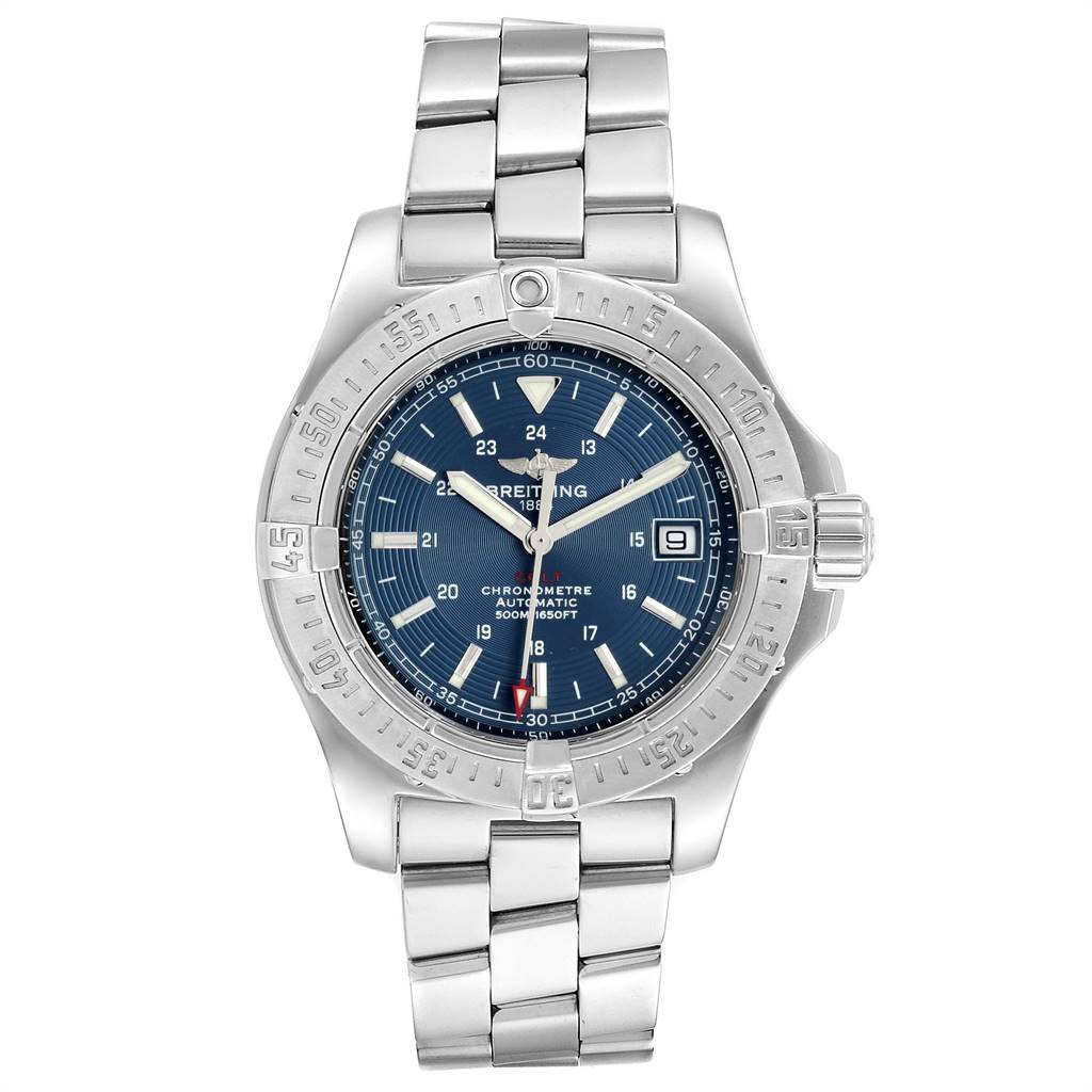 Breitling Colt Blue Dial Automatic Steel Mens Watch A17380 SwissWatchExpo