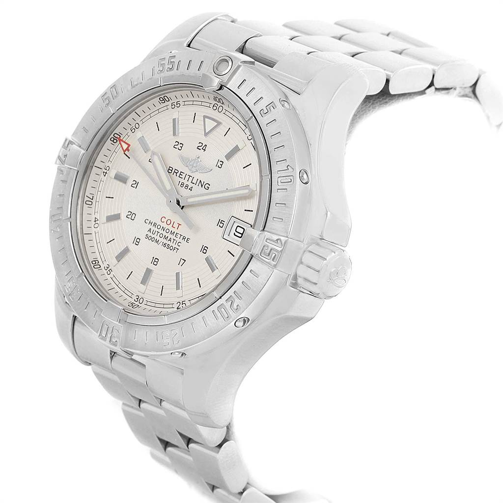Breitling Colt 41mm Silver Dial Automatic Steel Mens Watch A17380 SwissWatchExpo