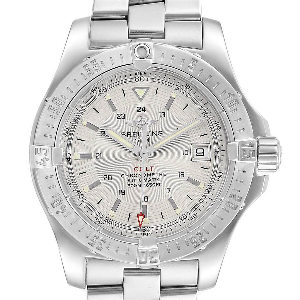 Photo of Breitling Colt 41mm Silver Dial Automatic Steel Mens Watch A17380