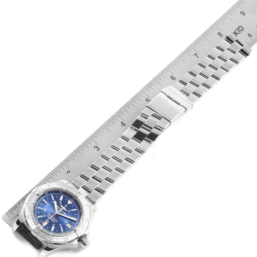 20753 Breitling Colt Blue Dial Automatic Steel Mens Watch A17380 SwissWatchExpo