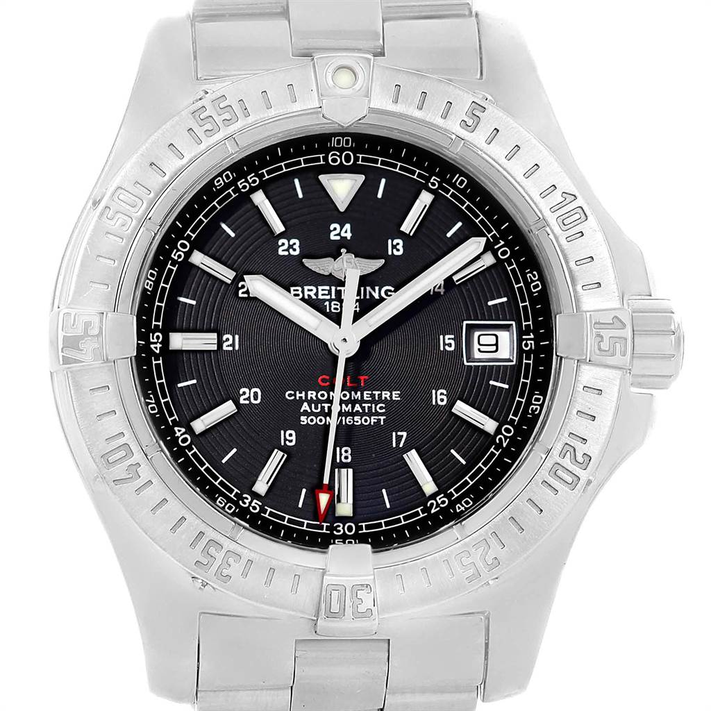 21525 Breitling Colt 41mm Black Dial Automatic Steel Mens Watch A17380 SwissWatchExpo