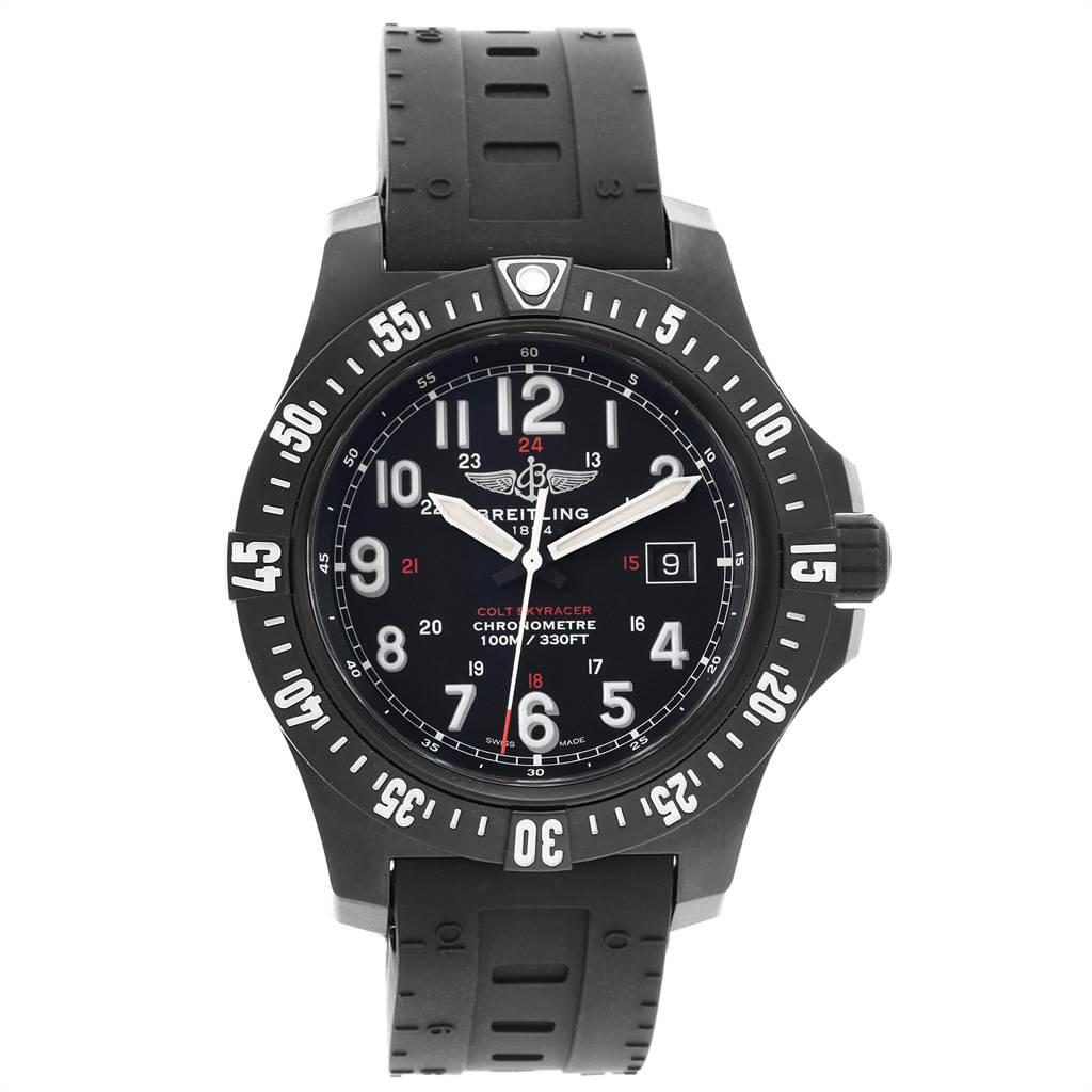 Breitling Colt Skyracer 45 PVD Ultralight Polymer Mens Watch X74320 SwissWatchExpo