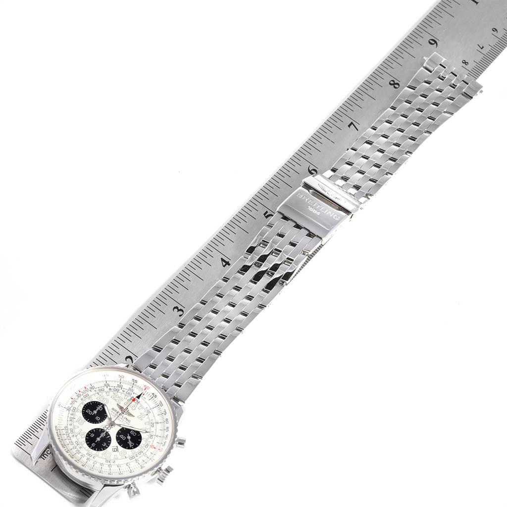 23600 Breitling Navitimer Chronograph Panda Steel Mens Watch A23322 SwissWatchExpo