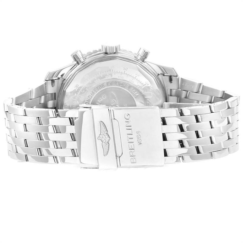 Breitling Navitimer Chronograph Panda Steel Mens Watch A23322 SwissWatchExpo