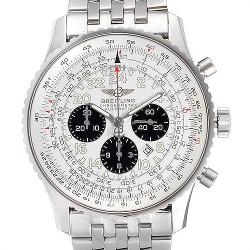 Photo of Breitling Navitimer Chronograph Panda Steel Mens Watch A23322