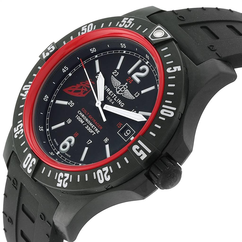 24230 Breitling Colt Skyracer 45 PVD Ultralight Polymer Mens Watch X74320 SwissWatchExpo