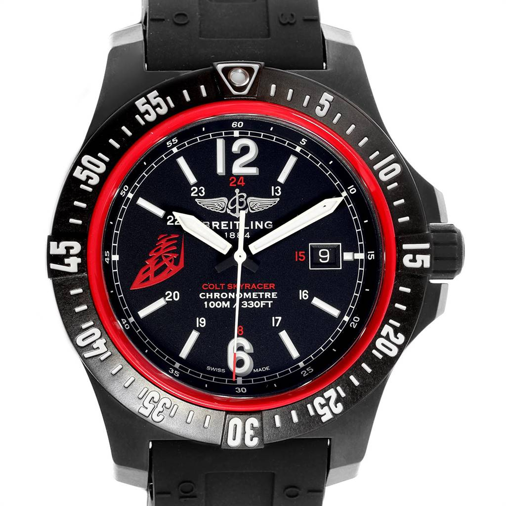 Breitling Colt Skyracer 45 PVD Ultralight Polymer Mens Watch X74320 SwissWatchExpo