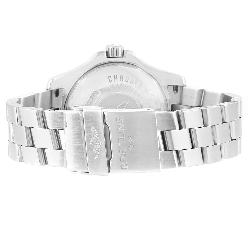 24718 Breitling Colt Quartz Silver Dial Stainless Steel Mens Watch A74380 SwissWatchExpo