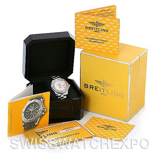 4330 Breitling Colt Automatic Stainless Steel Mens Watch A17380 SwissWatchExpo