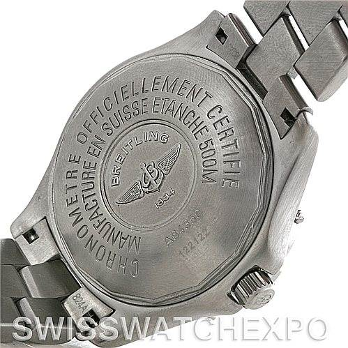 4417 Breitling Colt Stainless Steel Mens Watch A64350 SwissWatchExpo