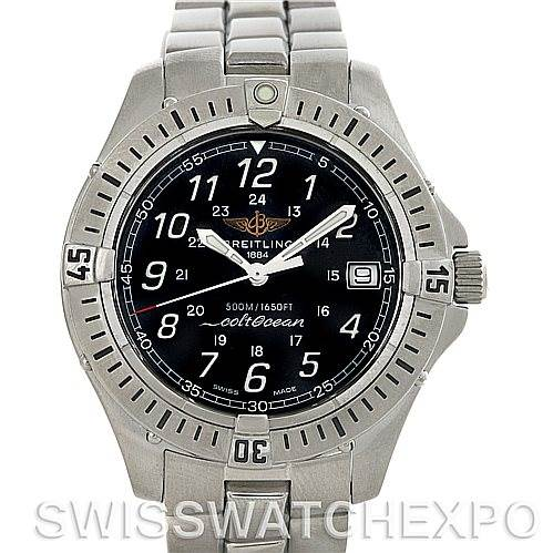 Breitling Colt Stainless Steel Mens Watch A64350 SwissWatchExpo
