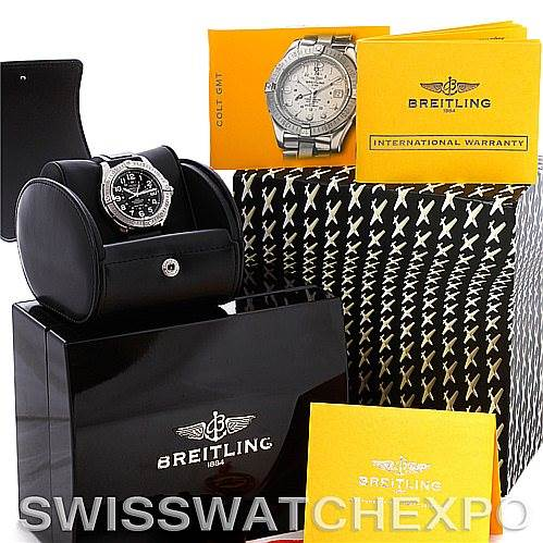 4764 Breitling Colt Chronometer GMT Automatic Watch A32350 SwissWatchExpo