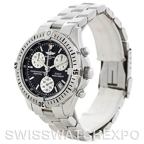 5836 Breitling Colt Chronograph Stainless Steel Mens Watch A73350 SwissWatchExpo