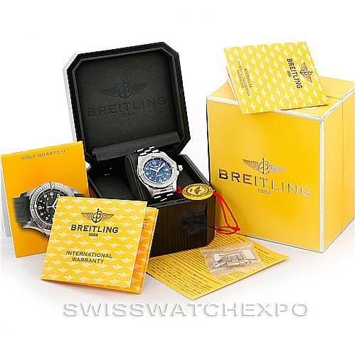 6890 Breitling Colt Quartz II Stainless Steel Mens Watch A74380 SwissWatchExpo