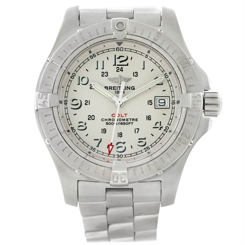 8687X Breitling Colt II Quartz Stainless Steel Mens Watch A74380 SwissWatchExpo