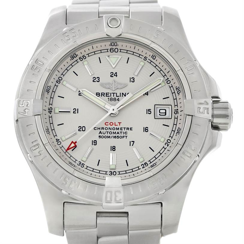 8804 Breitling Colt Automatic Stainless Steel Mens Watch A17380 SwissWatchExpo