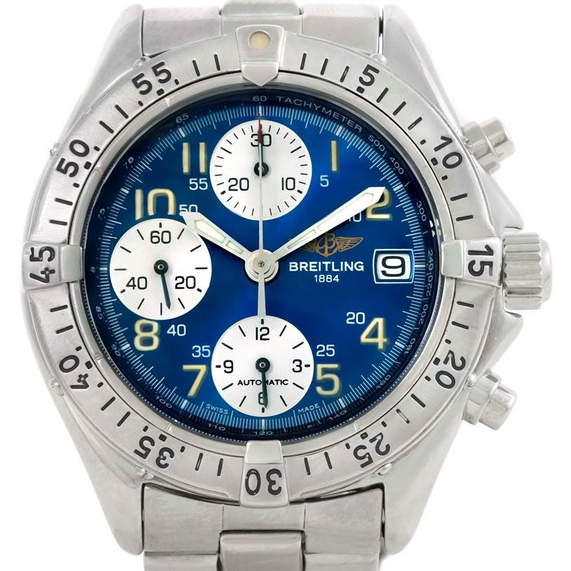 9743 Breitling Colt Automatic Stainless Steel Blue Dial Mens Watch A13035 SwissWatchExpo