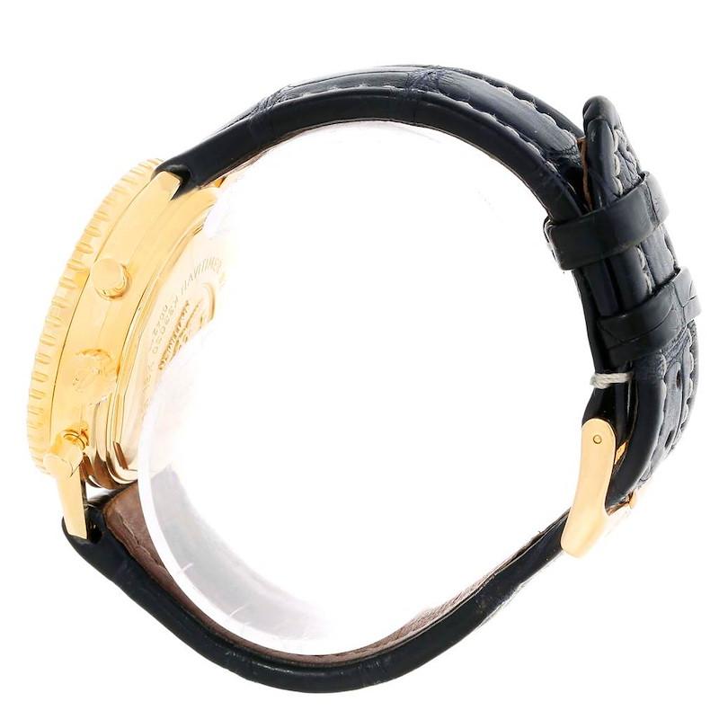Breitling Navitimer Airborne 18K Yellow Gold Blue Dial Watch K33030 SwissWatchExpo