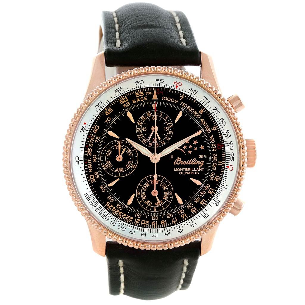 10211P Breitling Montbrillant Olympus Rose Gold Limited Edition Mens Watch R19350 SwissWatchExpo