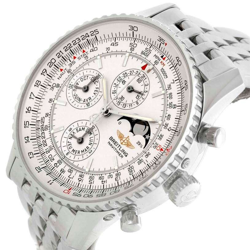 10290 Breitling Navitimer Montbrillant Olympus Moonphase Mens Watch A19340 SwissWatchExpo