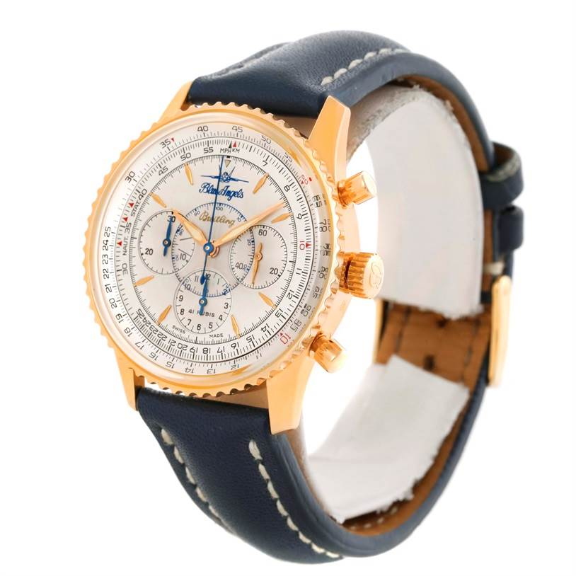 Breitling Navitimer 18K Yellow Gold Limited Edition Watch H30030 SwissWatchExpo