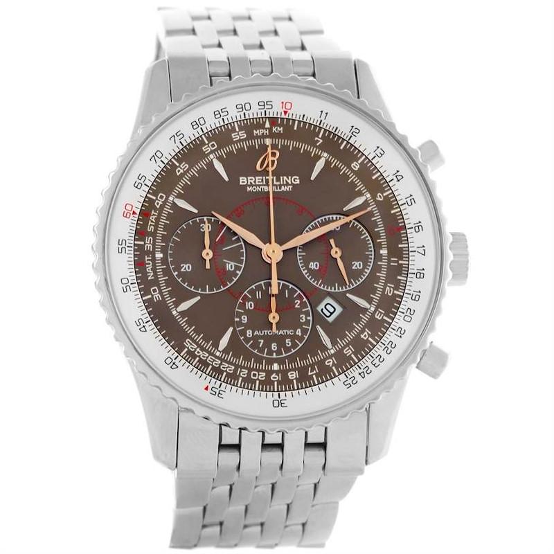 Breitling Navitimer Montbrillant Steel Chronograph Mens Watch A41370 SwissWatchExpo