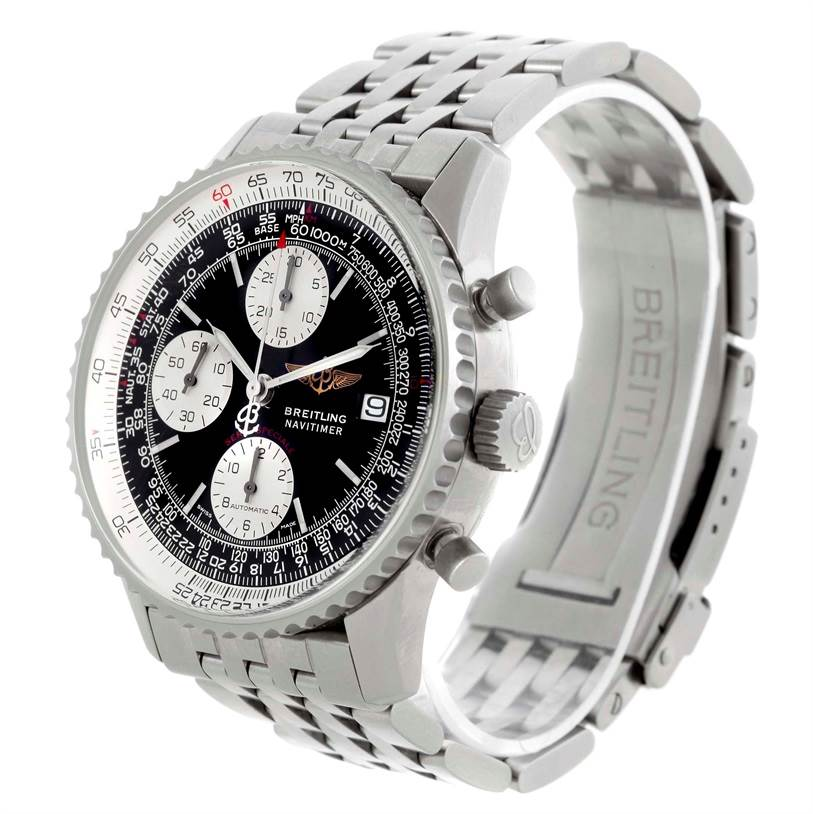 10743 Breitling Navitimer Fighter Automatic Chronograph Steel Watch A13330 SwissWatchExpo
