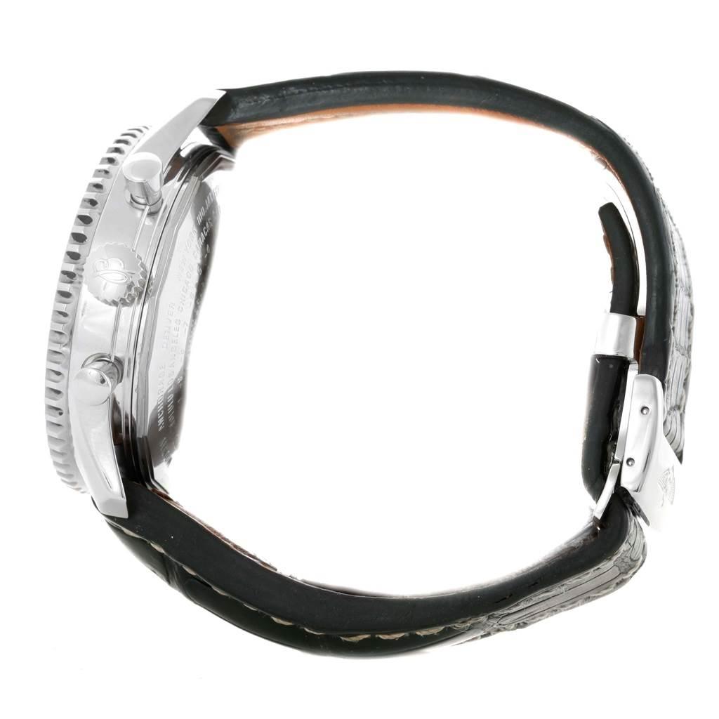 Breitling Navitimer World Chronograph GMT Steel Watch A24322 SwissWatchExpo