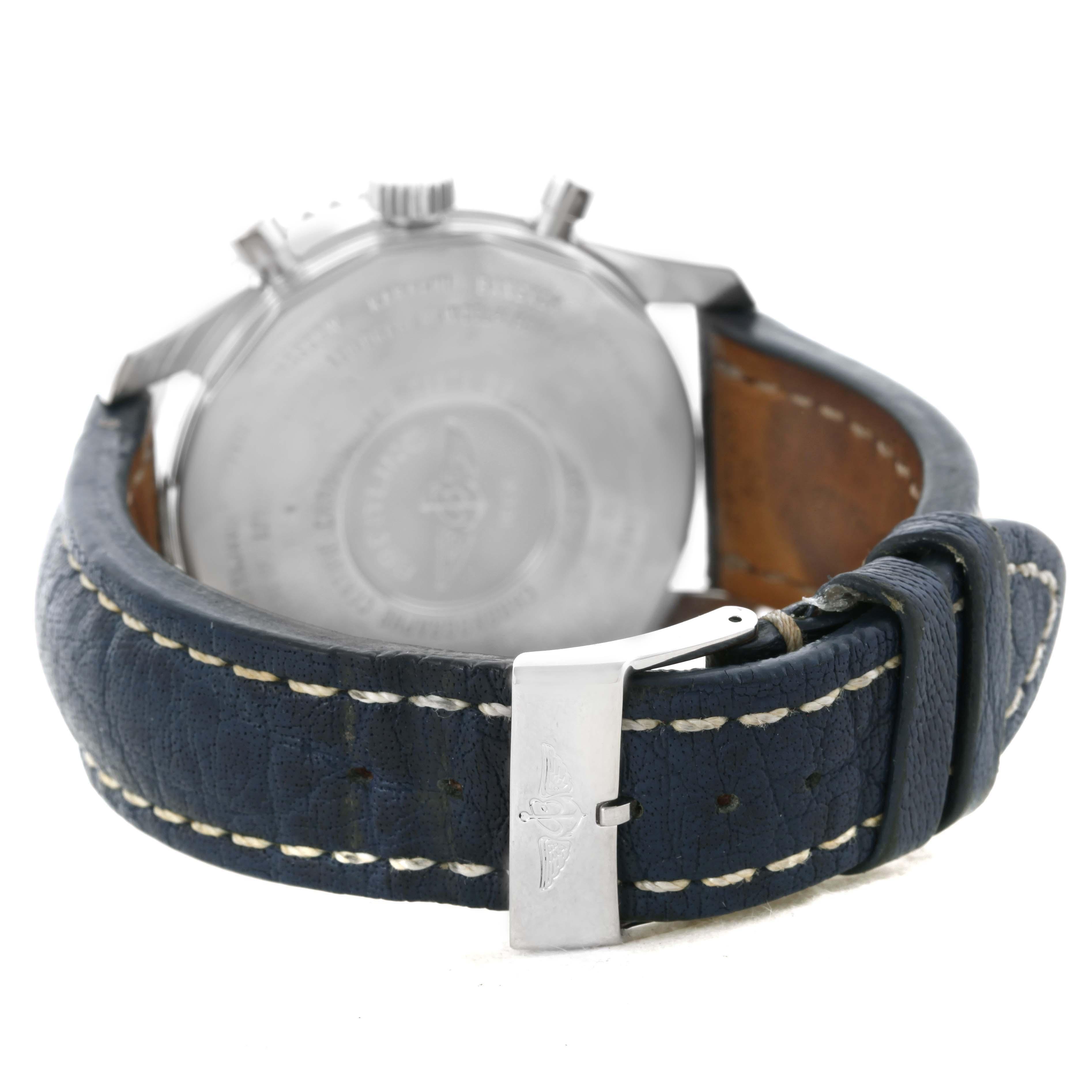 Breitling Navitimer World Chrono GMT Blue Dial Steel Watch A24322 SwissWatchExpo