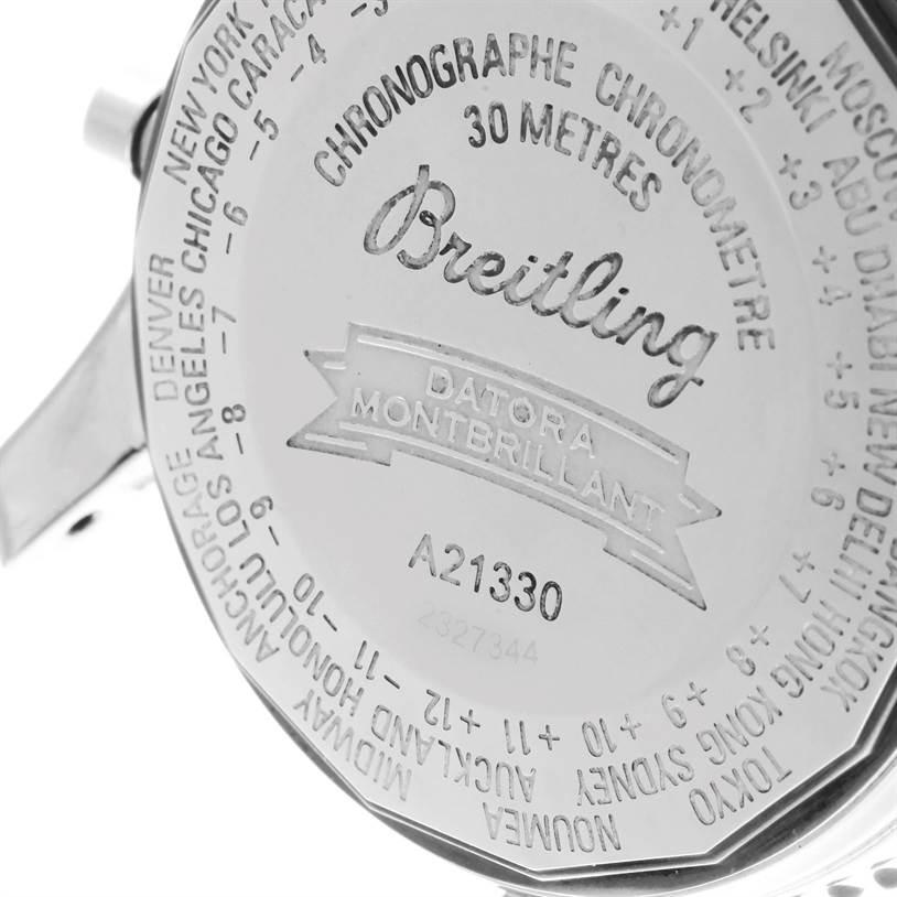 11215 Breitling Navitimer Montbrillant Datora Brown Strap Mens Watch A21330 SwissWatchExpo