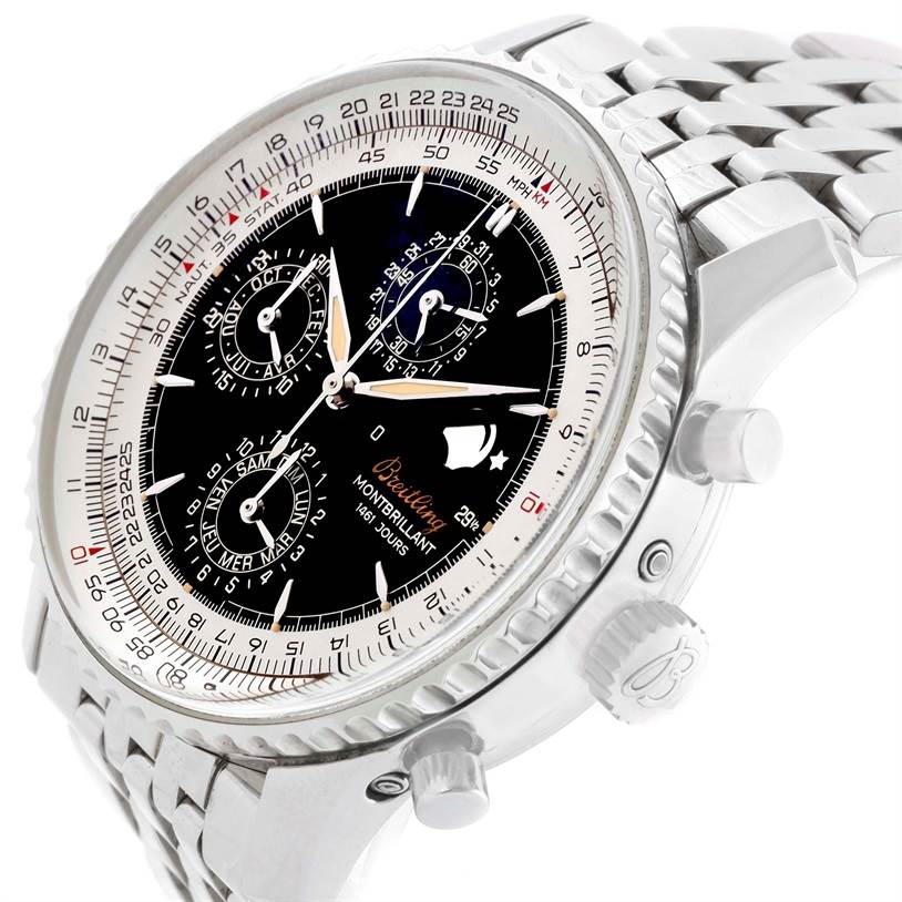 Breitling Navitimer Monbrillant 1461 Jours Mens Moonphase Watch A19030 SwissWatchExpo