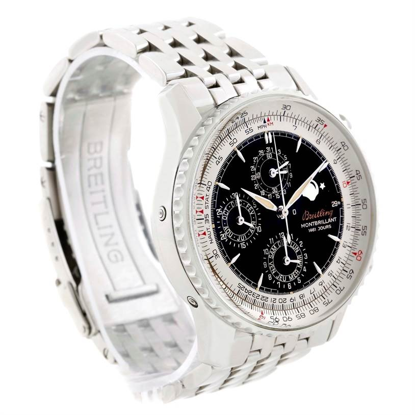11209 Breitling Navitimer Monbrillant 1461 Jours Mens Moonphase Watch A19030 SwissWatchExpo