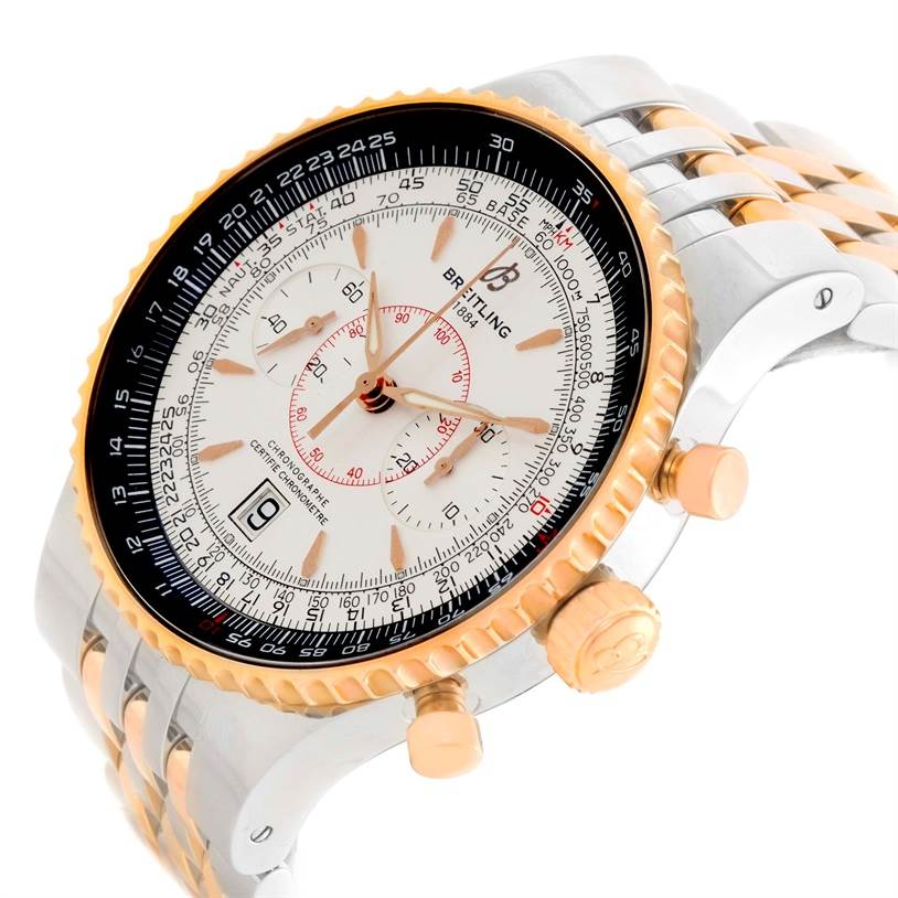 11475 Breitling Montbrillant Legende Steel 18K Rose Gold Watch C23340 SwissWatchExpo